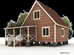 Проект дома К-20 - Строительство дома из бруса в Ленинградской области