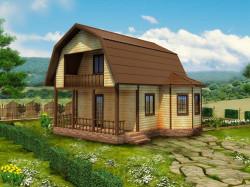 Деревянный дом К-44 - проект каркасного дома 6х6 в Кингисеппском районе.
