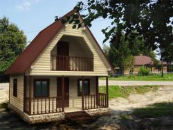 Деревянный дом К-48 - Прекрасный простой деревянный дом с двухскатной крышей