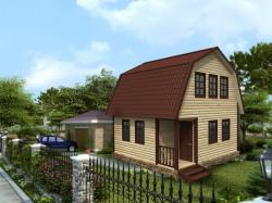 Деревянный дом К-46 - Строительство домов в Ленинградской области, Кингисеппском районе.
