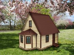 Деревянный дом К-47 - Домик 6х6 из профилированного бруса