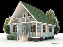 Двухэтажный брусовой дом К-21 - Двухэтажный брусовой дом с балконом в Ленинградской области