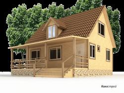 Дом из бруса К-27 - загородный дом из профилированного бруса в Европейском стиле