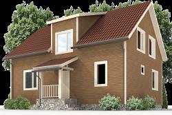 Деревянный дом К-39 - Прекрасный двухэтажный каркасный дом за месяц