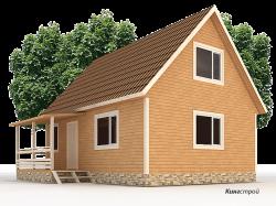 Деревянный дом К-25 - Каркасный дом 6х8 с мансардой в Ленинградской области