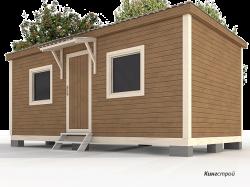 Садовый домик 3х6 - Недорогой и уютный садовый дом на базе бытовки.