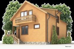 Деревянный дом К-36 - Просторный каркасный дом с двумя этажами (в 2 этажа)