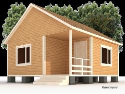 Каркасно щитовой дом К-11 - Строительство каркасно щитового дома эконом класса