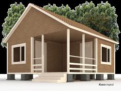 Каркасный дом К-10 - Удобный каркасный дом в Ленинградской области