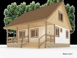 Проект дома К-32 - Гостевой дом из профилированного бруса