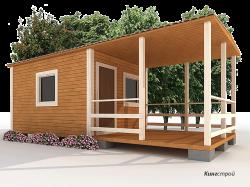 Садовый дом К-02 - Строительство садового дома в Ленинградской области, Кингисеппском районе.