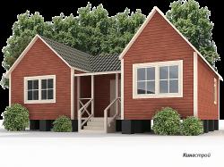 Каркасный дом К-15 - Строительство каркасных дачных домиков в Ленинградской области