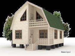 Проект дома К-23 - Построить теплый каркасный дом с мансардой